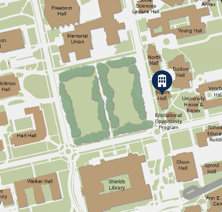 South Hall Campus Map