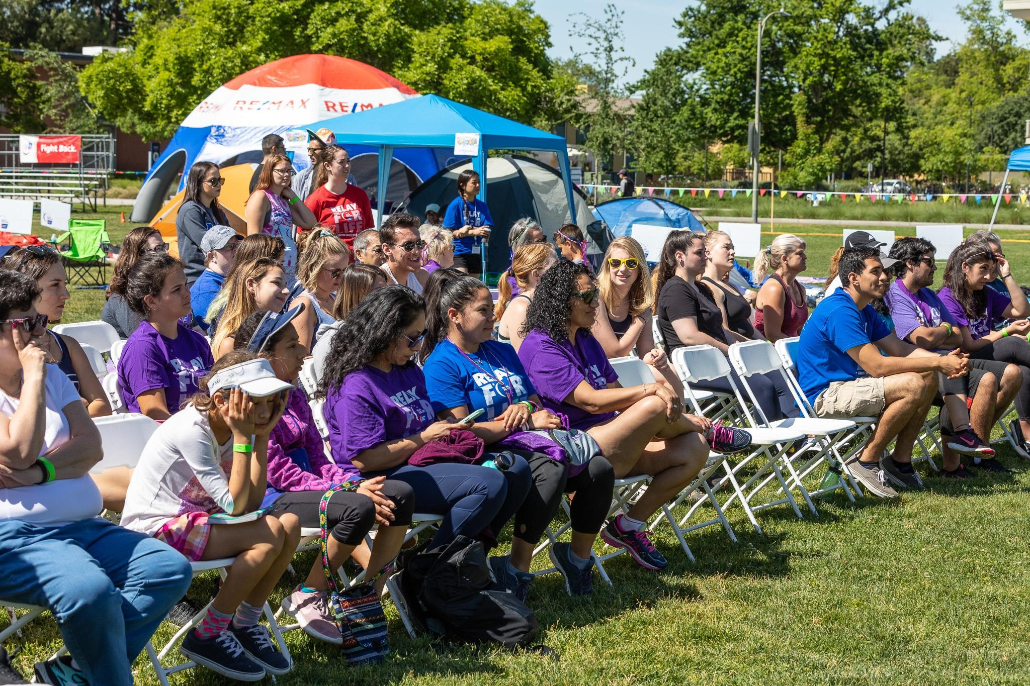 Relay For Life closing ceremony audience